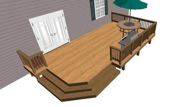 Composite Deck Planter Boxes
