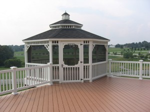 Screened gazebos can be designed as a beautiful extension to your current deck. Enjoy the breeze without the bugs!