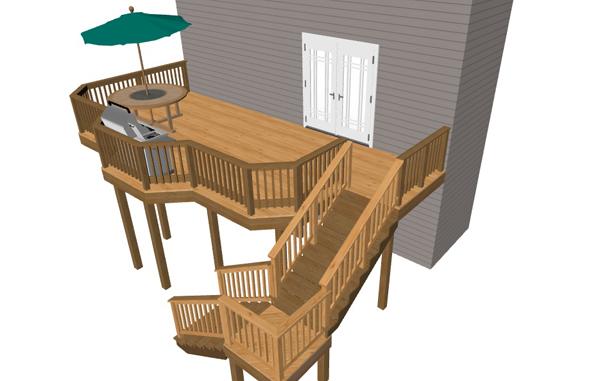 High elevation deck designs baltimore md dc va pa for Low elevation deck plans