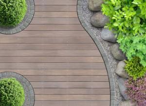 Curved deck design
