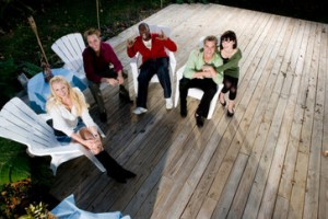 Wooden Free-Standing Deck