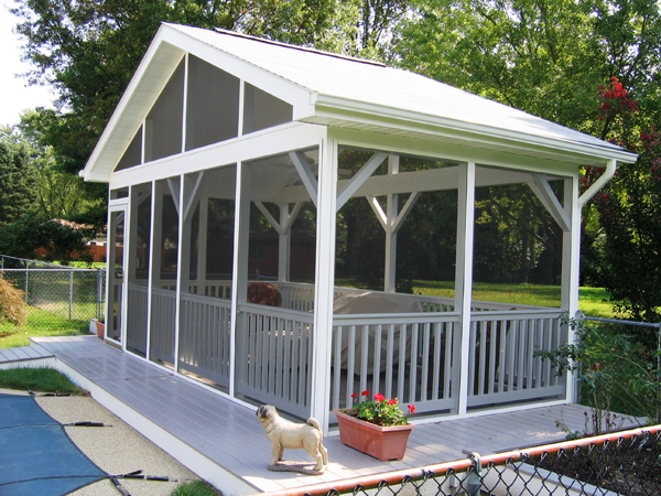 How to add home value with a screen porch design for Detached screened porch plans