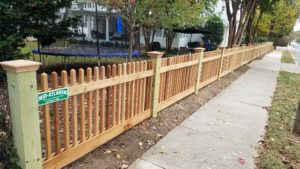 Custom Cedar Fence in Annapolis, Maryland